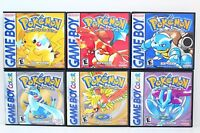 Pokemon 1st And 2nd Generation Custom Game Cases No Games (game Boy Color Gbc)