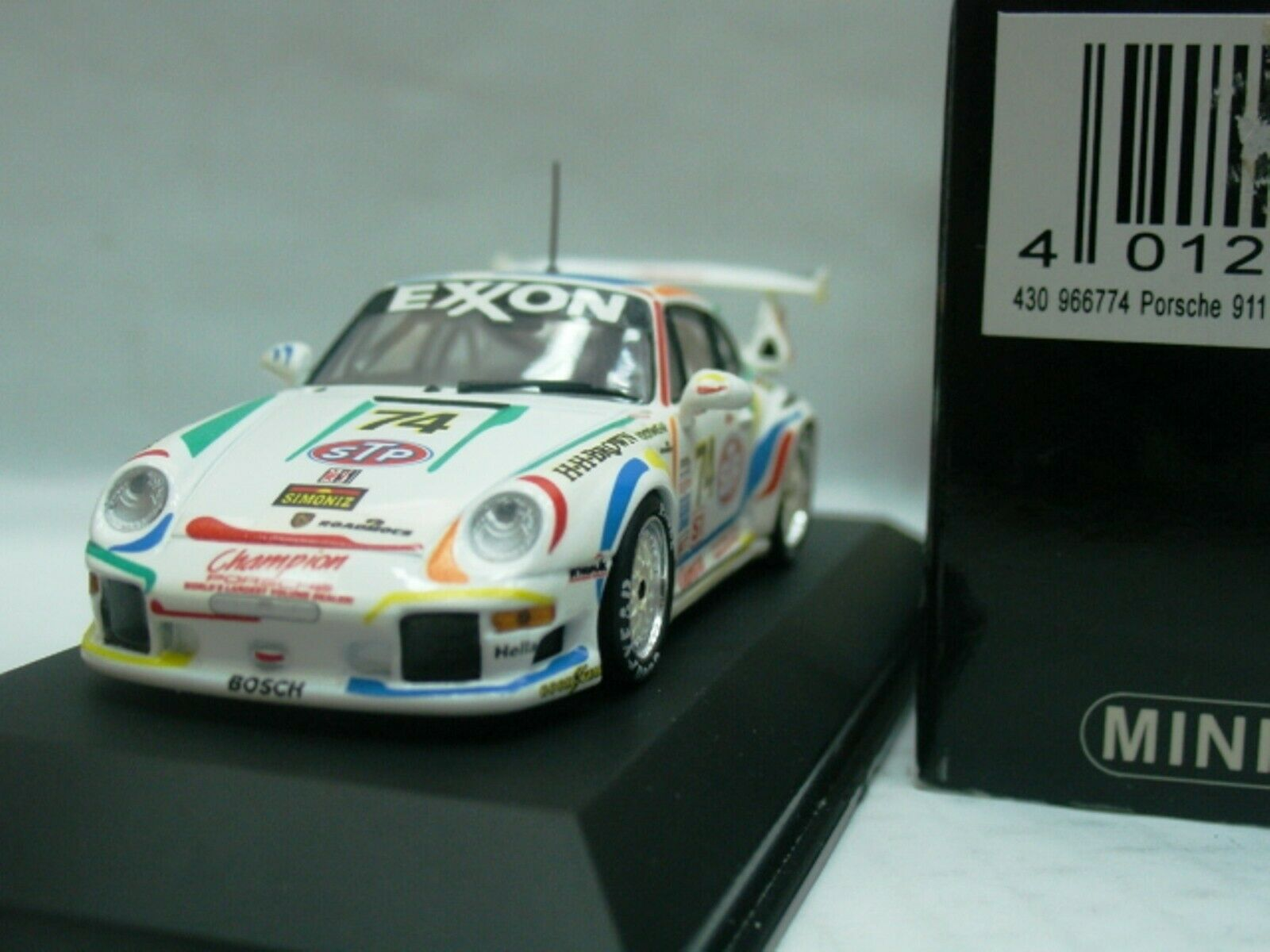 Wow extrêmement rare Porsche 993 911 GT2 Evo2  74 Daytona 1996 1 43 Minichamps-RS