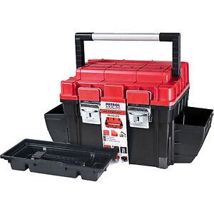 12 Toolbox Marko Tools Plastic Tool Box Sturdy Lockable Removable Storage Compartments DIY
