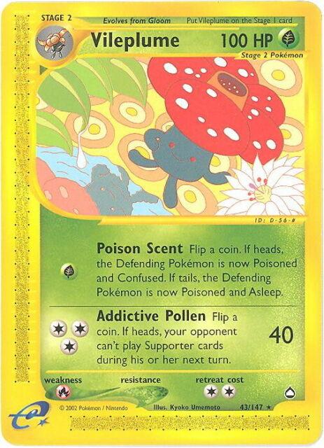 Pokemon Card - Aquapolis 43/147 - VILEPLUME (rare) - NM/Mint