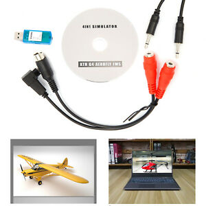 Details about USB Flight Simulator FMS Cable Set Futaba JR Esky RC FMS