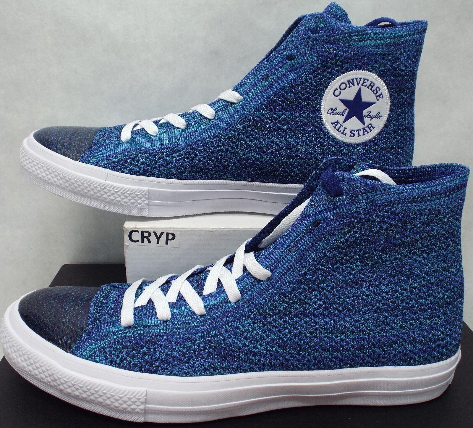 New Homme 11 Converse CTAS HI True Indigo Bleu Textile Knit Canvas 157507C