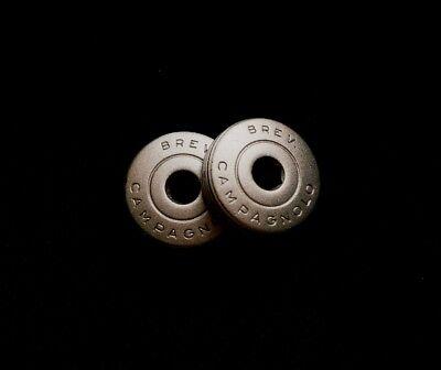 Bianchi White crankset dust caps fit Campagnolo record shimano ofmega gipiemme