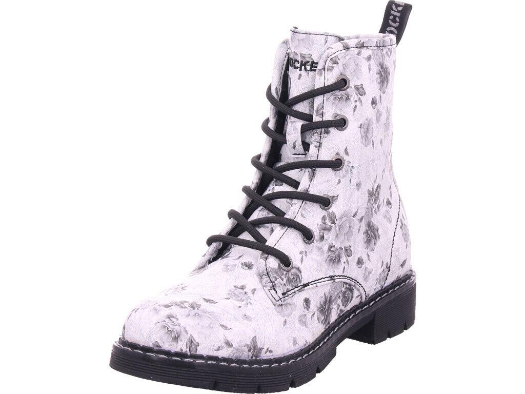 Dockers Damen  Winter Stiefel Stiefel Stiefelette warm Schnürer weiß