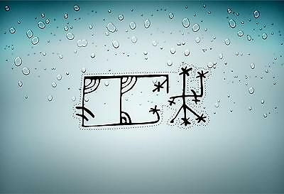 Sticker icelandic magical staves symbol viking odin runic car Aegishjalmr r2