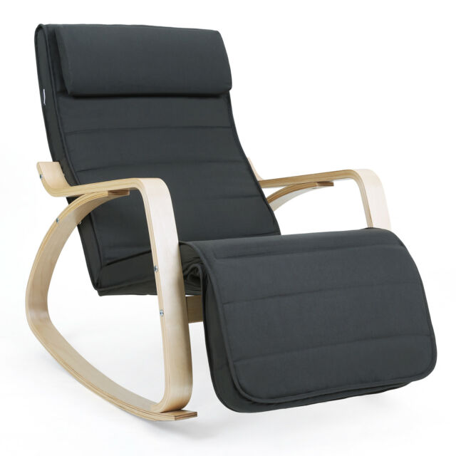 bascule Chair Berçante relaxation Songmics À Rocking Fauteuil Relax Chaise SMpUzVGq