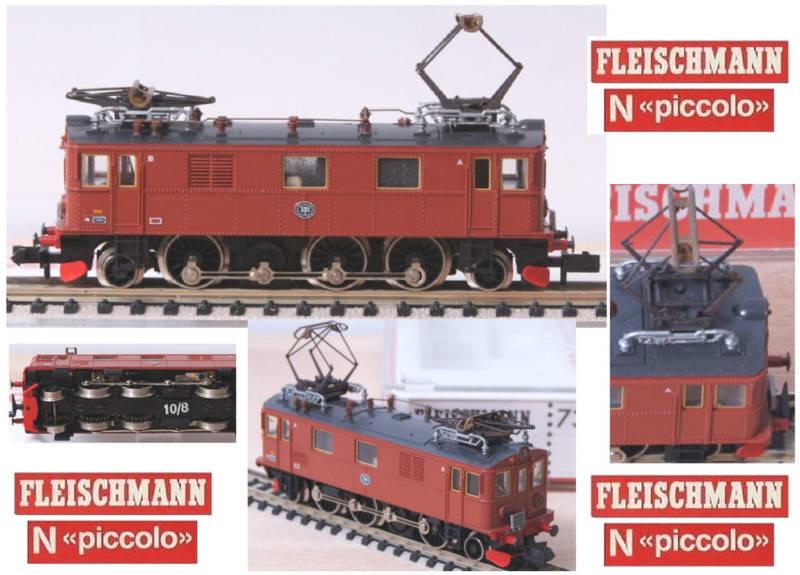 Fleischmann Fleischmann Fleischmann 7368 y look locomotora du - 2 SJ ovp Ladder - N f68