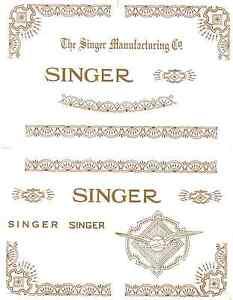 Singer Model 15 RAF Variation Sewing Machine Restoration Decals 40755