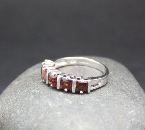 Véritable Grenat Ring Set En Argent Sterling .925 Rapide Livraison Gratuite!!!