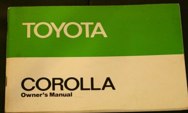 Toyota Corolla Owners Manual no date