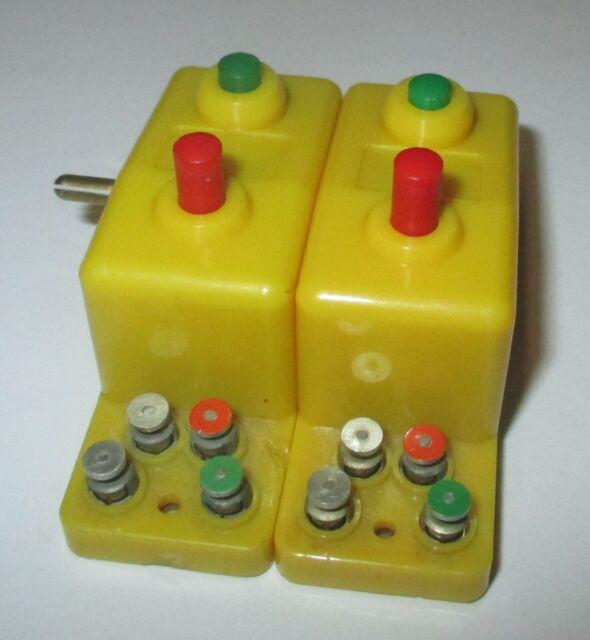 Trix 66594 Doppelfunktionsschalter gelb 2x
