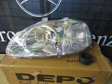 Honda Civic 96-98 4 Door Left Hand NS Headlight Part No 217-1120L-RD-E