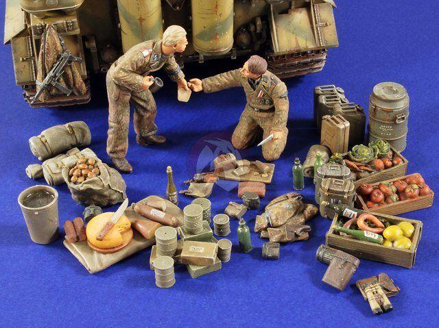 "Verlinden 1/35 ""Camping Grounds Germany"" German Tankers WWII (2 Figures) 2776"