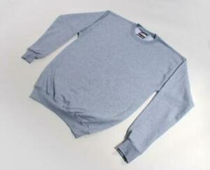 Mens Sweatshirt crew Athletic Heather Gray Small medium Hanes NEW