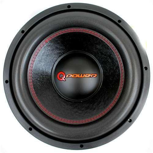 "Q Power 12/"" 3000 Watt Super Deluxe Subwoofer  DVC Car Audio Sub Open Box"