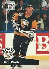 Jim Paek 1992 NHL Pro Set French Trading Card #554 Pittsburgh Penguins