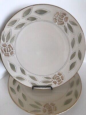 2 Pier 1 Imports Abby Dinner Plates 11 3 8 Excellent Condition Ebay