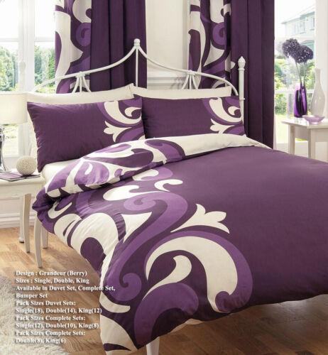 Printed Floral Grandeur Duvet Cover Bedding Set
