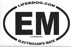 4-x-6-OVAL-UNITED-STATES-NAVY-EM-ELECTRICIAN-039-S-MATE-STICKER