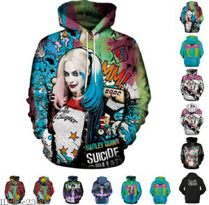 f15db0a912fb Image is loading Suicide-Squad-Harley-Quinn-Joker-3D-Printed-Hoodie-