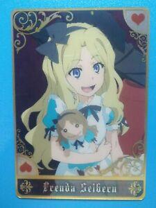Railgun Anime Collectible Plastic Translucent Card Frenda Seivelun TKW-I-05