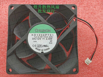 SUNON KD1206PTB1 Ball bearing Cooling fan DC12V 2.0W 60*60*25mm 2pin #MH15 QL