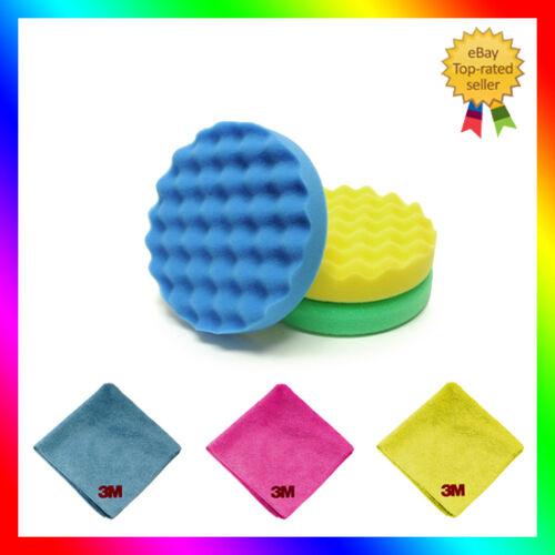 "3M Perfect-it III set of 3 compounding /& polishing pads 150 mm//6/"" 3x 3M cloths"