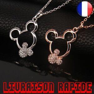 Collier-Bijoux-Disney-Mickey-Pendentif-Cristal-Mode-Strass-Femme-Fille-Cadeau