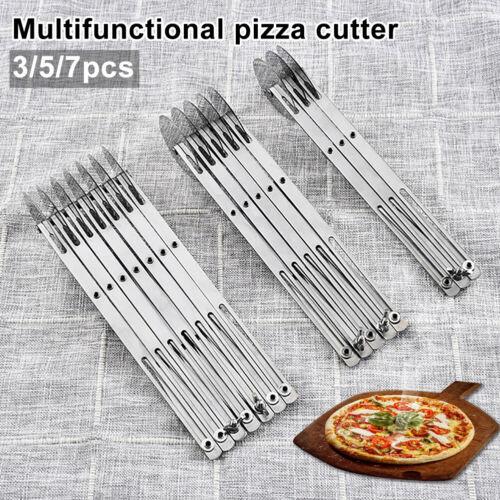 EE/_ 3//5//7 Wheel Pizza Cutter Dough Divider Pasta Roller Blade Pastry Peeler Gadg