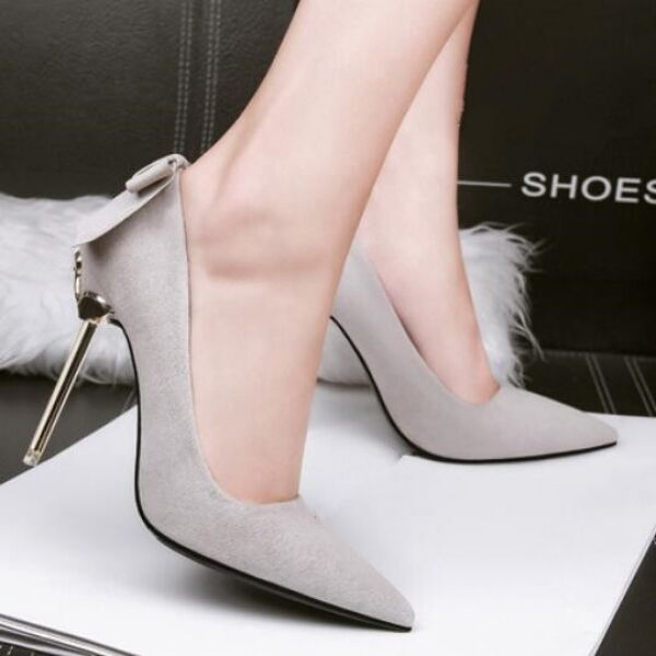 Pumps Damenschuhe elegant Silber Silber Silber Silber Ferse 10 Stilett simil Leder CW037 9dadd5