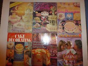 Lot-of-9-Vintage-Cake-Decorating-Magazine-1976-to-1989-Wilton-Yearbooks