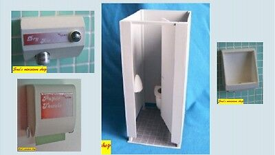 1:12 dolls house miniature modern white  bathroom fixtures 11 to choose from.