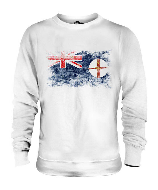NEW SOUTH WALES DISTRESSED FLAG UNISEX SWEATER TOP WELSH SHIRT JERSEY GIFT