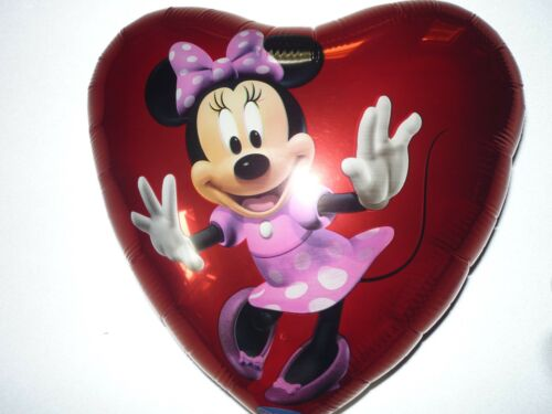Folienballon Minnie Maus Herz Luftballon Partyartikel Gasballon
