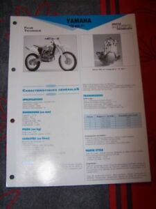1g - Fiche Technique Moto Rmt Etai Yamaha Yz 400 F Yz400f Xsx2bop7-07223547-676481452