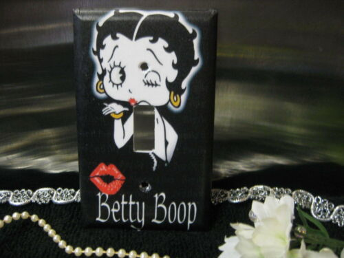Betty Boop Black w// Kiss Light Switch Wall Plate Cover #2 Variations Available