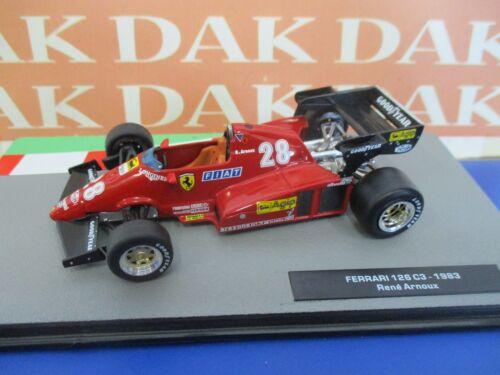 Die cast 1//43 Modellino Auto F1 Ferrari 126 C3 1983 R.Arnoux