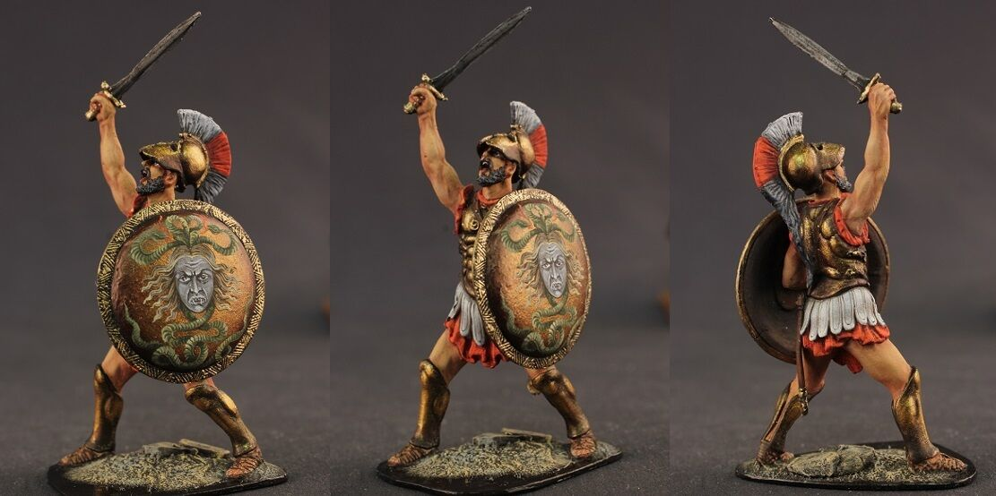 Tin toy soldiers ELITE painted 54 mm  The ancient Greek in battle