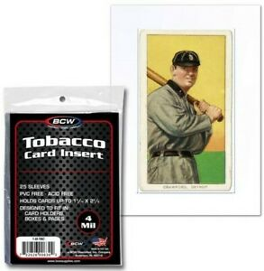 BCW-Tobacco-Trading-Card-Insert-Sleeves-2-7-16-034-x-3-1-2-034-Qty-1-250