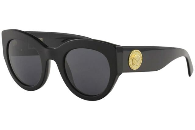 69126a2afab34 Authentic Versace VE4353-GB1 87 51mm Baroque Sunglasses Black   Grey Lens
