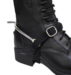 English-Saddle-Horse-Black-Nylon-Spur-Straps-for-your-English-Riding-Boots