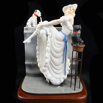 "Louis Icart Art Deco Figurine""Au Bar 1936"" H2005"" 8.5"" Tall NEW NEVER SOLD"