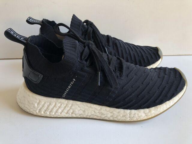 size 40 44dac c56d2 adidas NMD R2 Primeknit Japan Pack Athletic Shoes Mens Size 10 Black White
