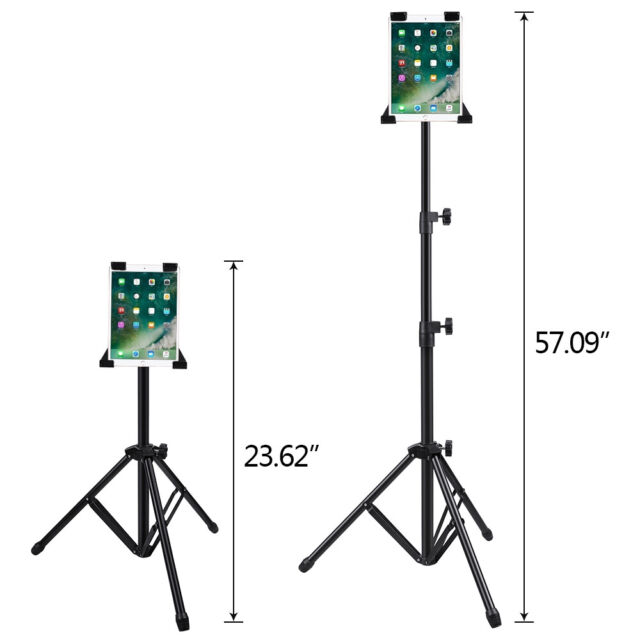 US Foldable Tripod Holder Stand Mount Adjustable for iPad2 3 4 Air Tablet PC+Bag