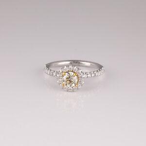APP-8-7k-14-kt-Two-Tone-Gold-1-35CT-Round-Cut-Diamond-Ring-N-Lot-1867952