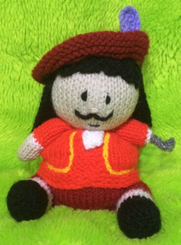 Captain Hook inspired choc orange cover KNITTING PATTERN 17 cms Pirate toy