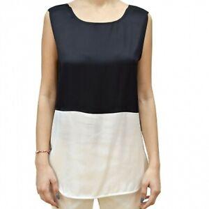 Armani Jeans 3Y5H645NZMZ Top T-Shirt in Cotone da Donna Bianco-Nero  -20 %