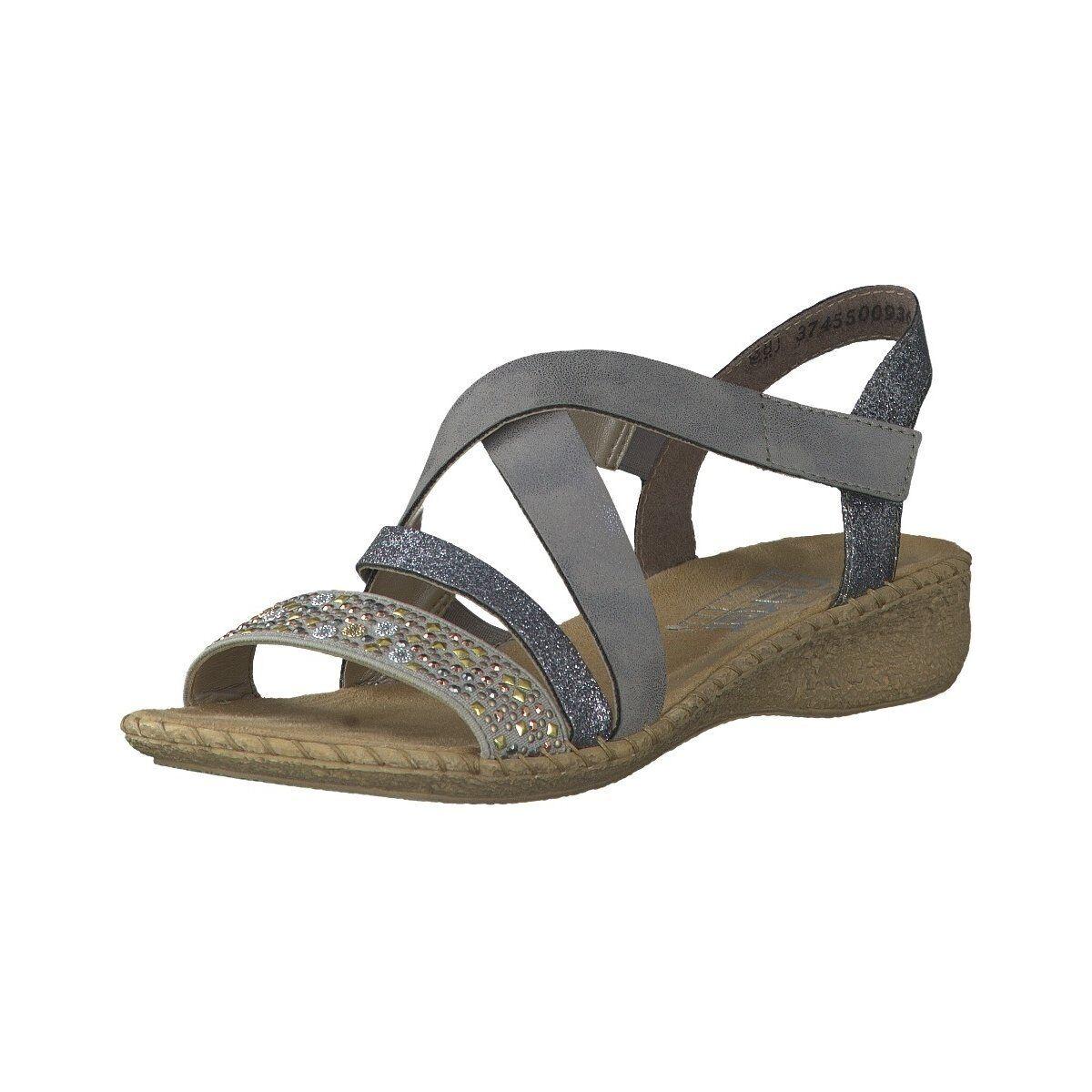 Rieker Damen Sandaletten Sandalette 61663-42 grau 426921