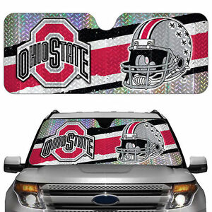 ohio state buckeyes windshield sun shade reflective car visor cover hear shield ebay. Black Bedroom Furniture Sets. Home Design Ideas