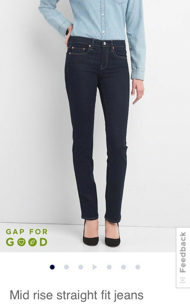 Gap Mid Rise Straight Fit Jeans  31 Regular